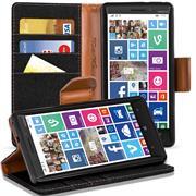 Textil Klapphülle für Nokia Lumia 930 - Hülle im Jeans Stoff Design Wallet Tasche