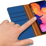 Book Wallet Hülle für Samsung Galaxy A10 Schutzhülle im Jeans-Look
