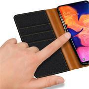 Handy  Tasche für Samsung Galaxy A10 Hülle Wallet Jeans Case Schutzhülle