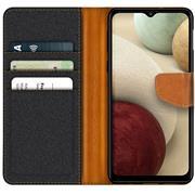 Handy Tasche für Samsung Galaxy A12 / M12 Hülle Wallet Jeans Case Schutzhülle