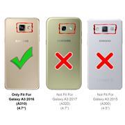 Handy  Tasche für Samsung Galaxy A3 2016 Hülle Wallet Jeans Case Schutzhülle