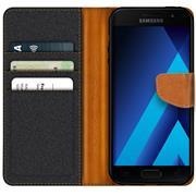 Handy Tasche für Samsung Galaxy A5 2017 Hülle Wallet Jeans Case Schutzhülle