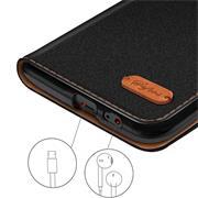 Handy Tasche für Samsung Galaxy A6 Plus Hülle Wallet Jeans Case Schutzhülle