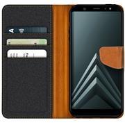 Handy Tasche für Samsung Galaxy A6 2018 Hülle Wallet Jeans Case Schutzhülle