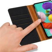 Handy Tasche für Samsung Galaxy A71 Hülle Wallet Jeans Case Schutzhülle