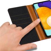 Handy Tasche für Samsung Galaxy A72 Hülle Wallet Jeans Case Schutzhülle