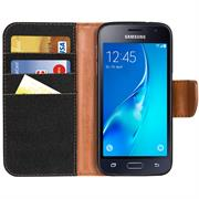 Handy Tasche für Samsung Galaxy J1 2016 Hülle Wallet Jeans Case Schutzhülle