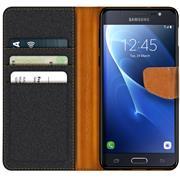 Handy Tasche für Samsung Galaxy J3 2016 Hülle Wallet Jeans Case Schutzhülle