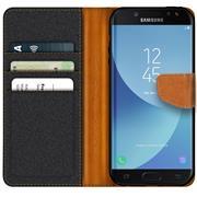 Book Wallet für Samsung Galaxy J3 2017 Schutzhülle im Jeans-Look