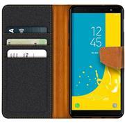 Handy Tasche für Samsung Galaxy J6 2018 Hülle Wallet Jeans Case Schutzhülle
