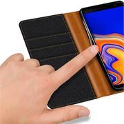 Handy Tasche für Samsung Galaxy J6 Plus Hülle Wallet Jeans Case Schutzhülle