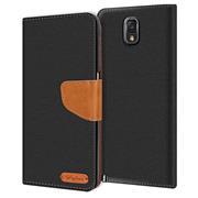 Handy Tasche für Samsung Galaxy Note 3 Hülle Wallet Jeans Case Schutzhülle