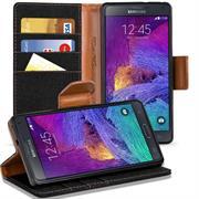 Book Wallet Tasche für Samsung Galaxy Note 3 Schutzhülle im Jeans-Look