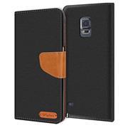 Handy Tasche für Samsung Galaxy Note 4 Hülle Wallet Jeans Case Schutzhülle