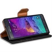 Book Wallet für Samsung Galaxy Note Edge Schutzhülle im Jeans-Look