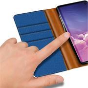 Book Wallet für Samsung Galaxy S10 Plus Schutzhülle im Jeans-Look