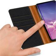 Handy Tasche für Samsung Galaxy S10 Plus Hülle Wallet Jeans Case Schutzhülle