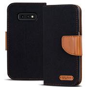 Book Wallet für Samsung Galaxy S10e Schutzhülle im Jeans-Look