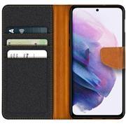 Handy Tasche für Samsung Galaxy S21 FE Hülle Wallet Jeans Case Schutzhülle