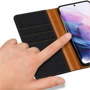 Handy Tasche für Samsung Galaxy S21 Hülle Wallet Jeans Case Schutzhülle