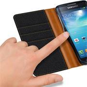 Handy Tasche für Samsung Galaxy S4 Hülle Wallet Jeans Case Schutzhülle