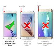 Handy  Tasche für Samsung Galaxy S6 Edge Hülle Wallet Jeans Case Schutzhülle