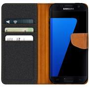 Handy Tasche für Samsung Galaxy S7 Edge Hülle Wallet Jeans Case Schutzhülle