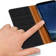 Handy Tasche für Samsung Galaxy S8 Plus Hülle Wallet Jeans Case Schutzhülle