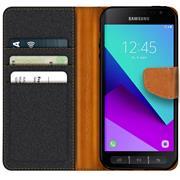 Handy Tasche für Samsung Galaxy XCover 4 Hülle Wallet Jeans Case Schutzhülle