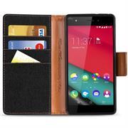 Handy  Tasche für Wiko Pulp Fab 4G Hülle Wallet Jeans Case Schutzhülle