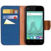 Handy  Tasche für Wiko Sunny Hülle Wallet Jeans Case Schutzhülle