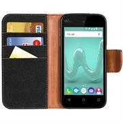 Handy  Tasche für Wiko Sunset 2 Hülle Wallet Jeans Case Schutzhülle
