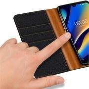 Handy Tasche für Wiko View 3 Lite Hülle Wallet Jeans Case Schutzhülle