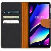 Handy Tasche für Wiko View 3 Hülle Wallet Jeans Case Schutzhülle