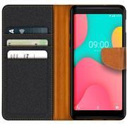 Handy Tasche für Wiko Y60 Hülle Wallet Jeans Case Schutzhülle