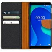 Handy Tasche für Wiko Y80 Hülle Wallet Jeans Case Schutzhülle