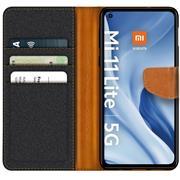 Handy Tasche für Xiaomi Mi 11 Lite Hülle 4G / 5G Wallet Jeans Case Schutzhülle