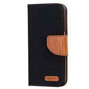 Book Wallet Hülle für Xiaomi Mi 9 Schutzhülle im Jeans-Look aufstellbar