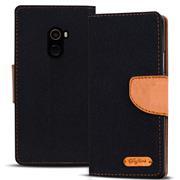 Book Wallet Tasche für Xiaomi Mi Mix 2 Schutzhülle im Jeans-Look