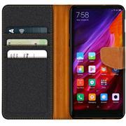 Book Wallet Tasche für Xiaomi Mi Mix 2s Schutzhülle im Jeans-Look