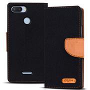 Book Wallet Tasche für Xiaomi Redmi 6 Schutzhülle im Jeans-Look