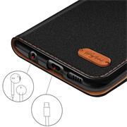 Book Wallet Tasche für Xiaomi Redmi 6a Schutzhülle im Jeans-Look