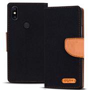Book Wallet Tasche für Xiaomi Redmi Note 5 Schutzhülle im Jeans-Look