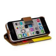 Triple Wallet Bookcase Hülle für Apple iPhone 5C Klapphülle