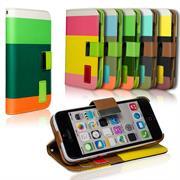 Dreifarbige Hülle für Apple iPhone 5C Schutzcase mit Kartenfächern