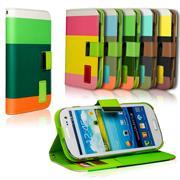 Dreifarbige Hülle für Samsung Galaxy S3 / S3 Neo buntes Schutzcase