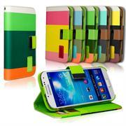 Triple Wallet Bookcase Hülle für Samsung Galaxy S4 Klapphülle