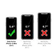 Handykette Silber/Weiss + Hülle für Apple iPhone 12 Mini Schutzhülle mit Trage Band Kordel Schnur Case zum umhängen