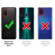 Handykette Blau + Hülle für Samsung Galaxy A02s Schutzhülle mit Trage Band Kordel Schnur