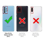 Handykette Blau + Hülle für Samsung Galaxy A32 5G Schutzhülle mit Trage Band Kordel Schnur